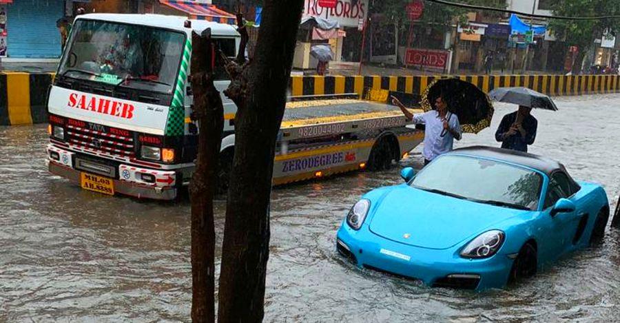 Porsche Mumbai Floods Featured