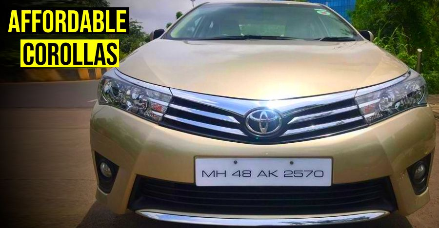 5 Toyota Corolla Altis sedans around 3 years old selling for less than a new Maruti Dzire