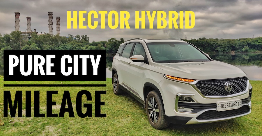 MG Hector Hybrid SUV's 'pure city fuel economy' revealed on video