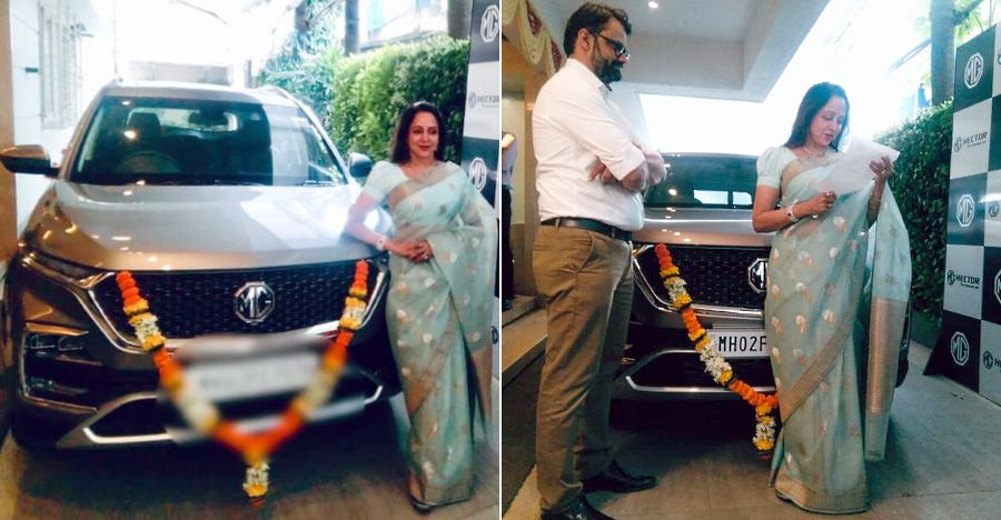 Bollywood actress Hema Malini now owns the MG Hector SUV [Video]