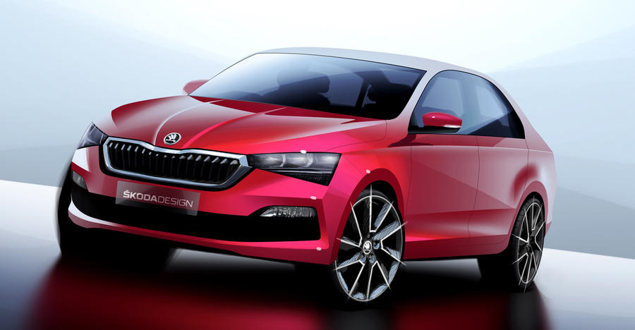 Skoda Rappid New Sketch Featured