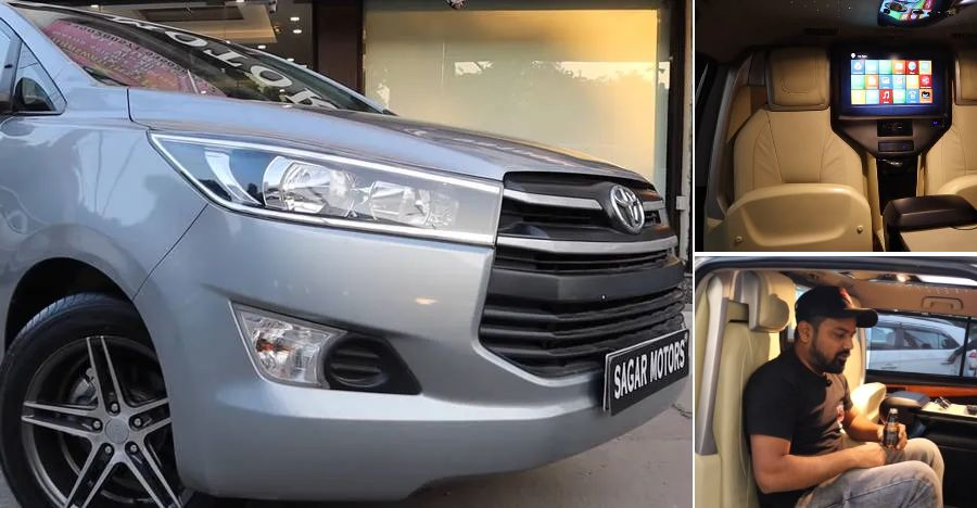 This Toyota Innova Crysta with ultra luxurious interiors is a real value deal
