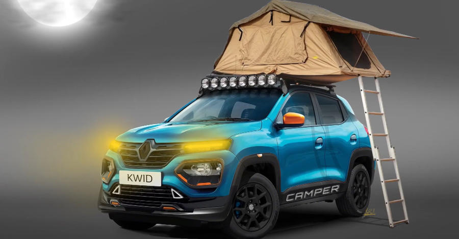 This Renault Kwid is ready for some camping fun