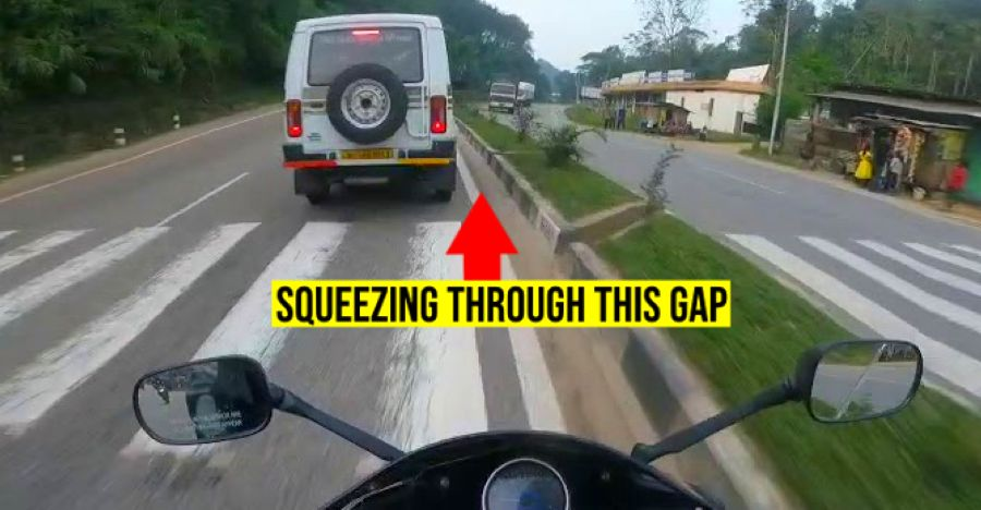 Insane rider on Honda CBR 250R sportsbike gets saved by inches [Video]