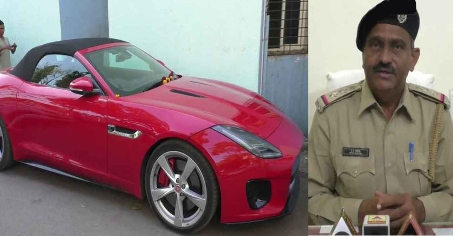 Brand new Jaguar F-Type worth Rs. 2.5 Crores SEIZED for driving without number & documents
