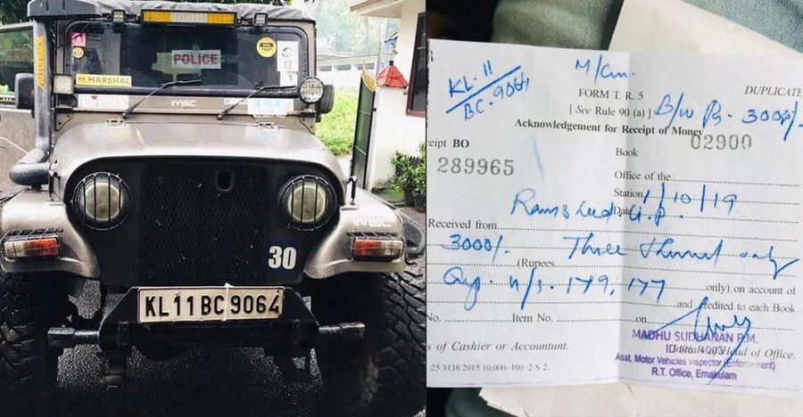 Jeep once used by cops for flood rescue, now FINED!