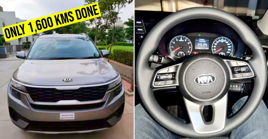 45 days old, used Kia Seltos compact SUV for sale: Rs 50,000 CHEAPER than new