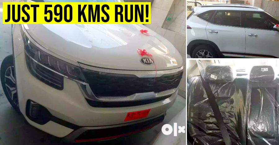 India's first used Kia Seltos SUV for sale: 'Almost-new' example selling Rs. 1 lakhs cheaper