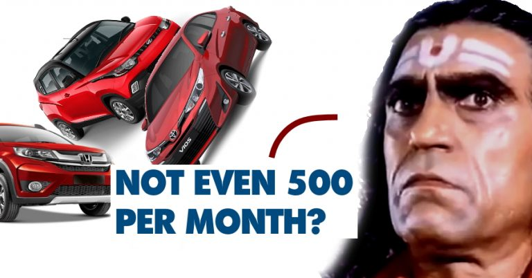 Low Sales Cars
