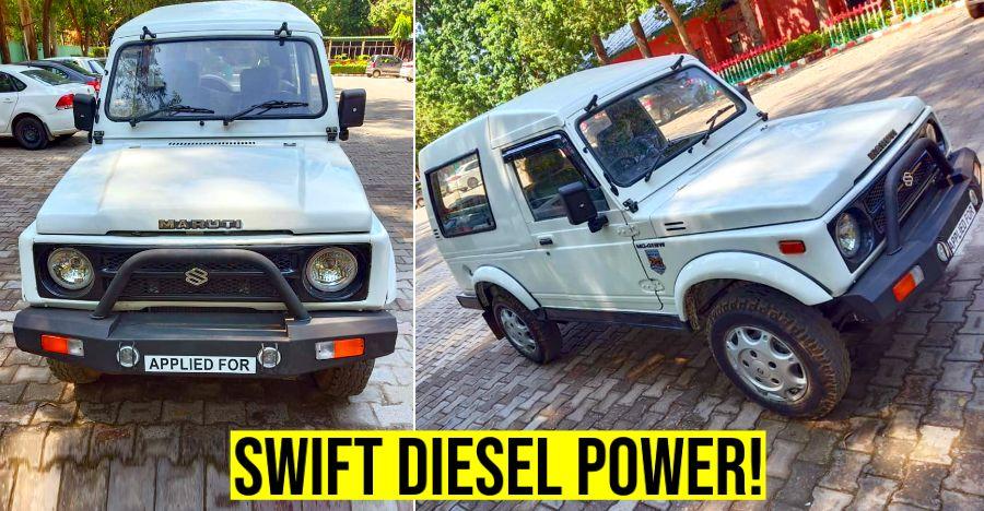 Super unique Maruti Gypsy with Swift Diesel engine for sale: Cheaper than an Alto!