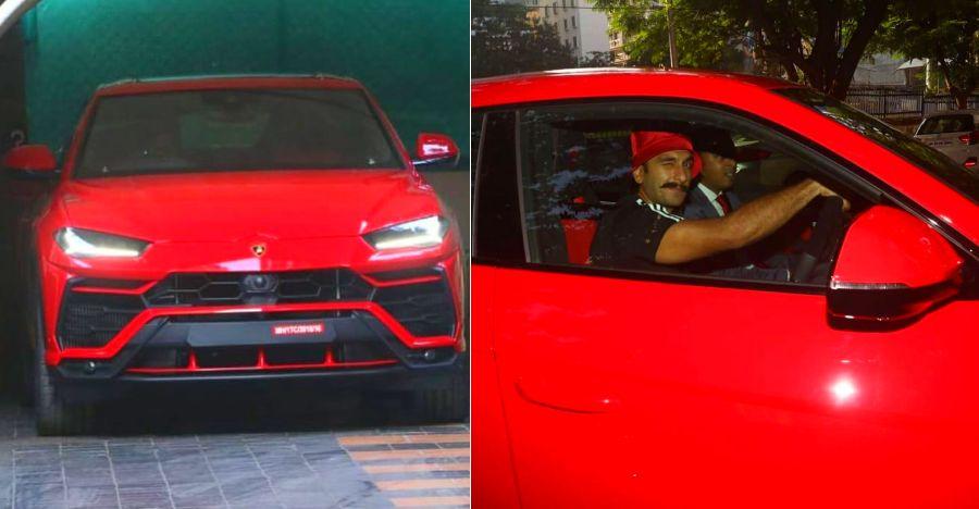 Bollywood Star Ranveer Singh's latest ride is a RED HOT Lamborghini Urus
