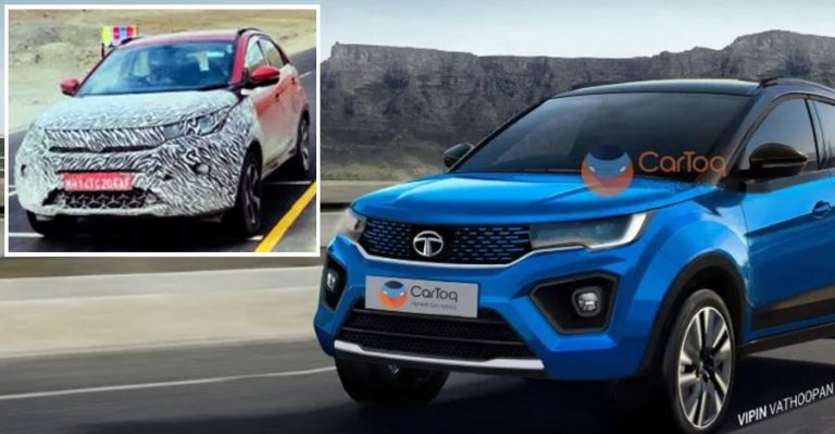 Tata Nexon Facelift Spyshot Featured
