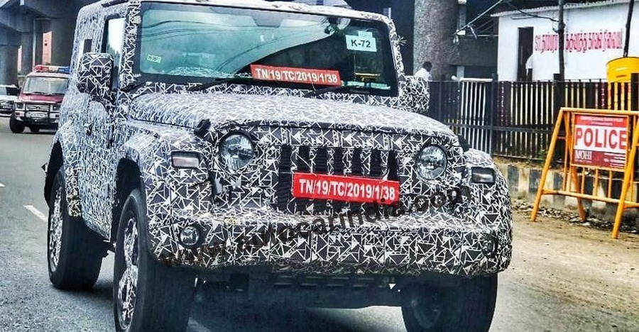 Next-gen Mahindra Thar with alloy wheels SPIED [Video]