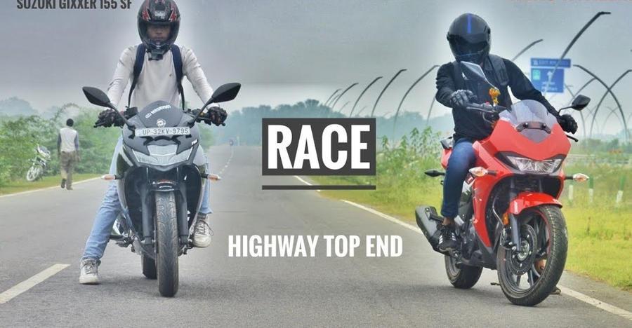 Hero Xtreme 200S vs Suzuki Gixxer SF 155 in a drag race: Who Wins? [Video]