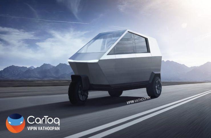 Tesla Autorickshaw Render 1