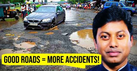 Assam Mp Pothole Roads Featured