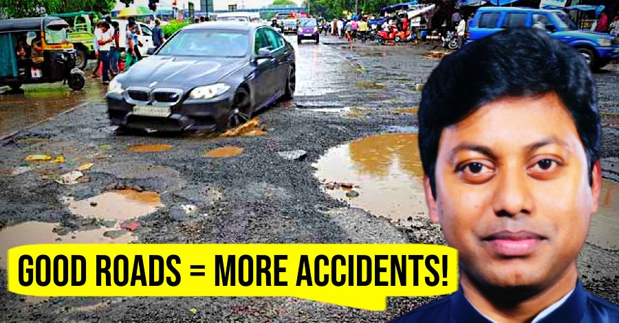 Member of Parliament says good roads cause more accidents: Here's his logic!