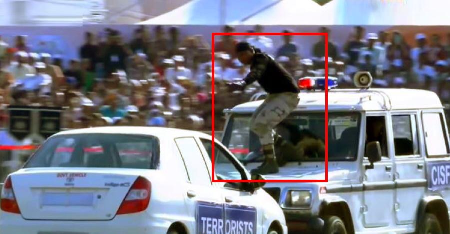 Watch CISF guard JUMP from a moving Mahindra Bolero into a Tata Indigo in security drill [Video]