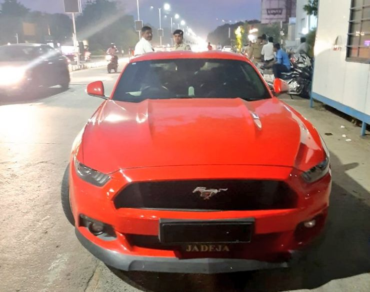 Ford Mustang Seized