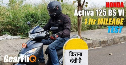 Honda Activa 125 Bs6 Mileage Test Featured