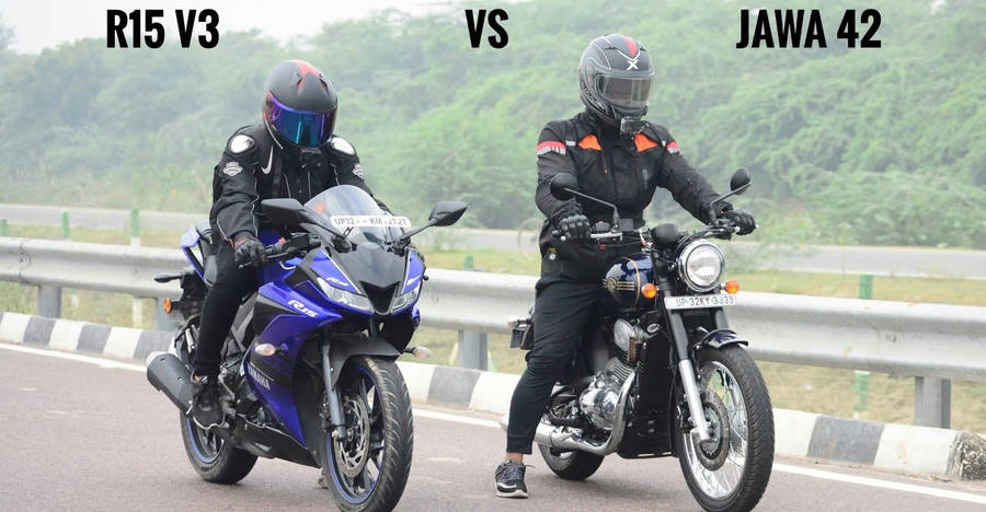 Yamaha R15 V3 vs Jawa Forty-Two in a drag race: Who Wins [Video]