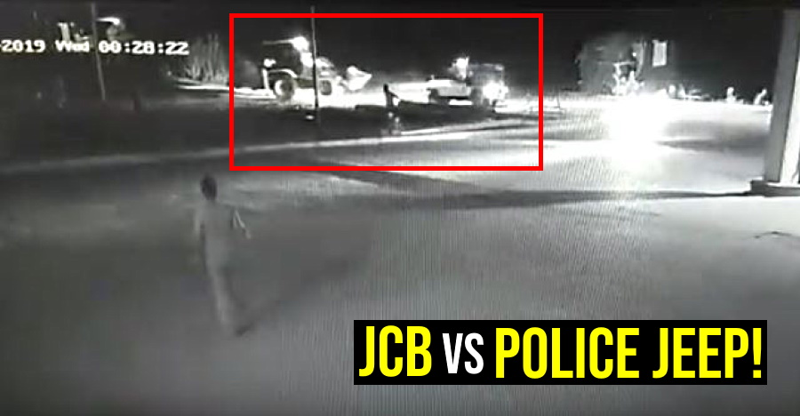 Drunk JCB driver overturns a police jeep: ARRESTED on the spot [Video]