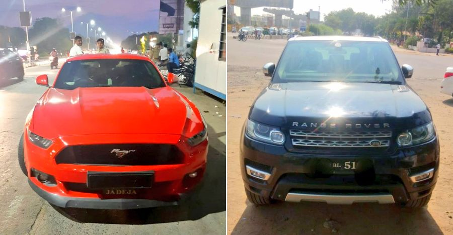 Mustang Range Rover Busted