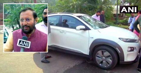 Prakash Javadekar Hyundai Kona