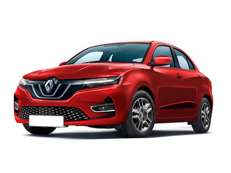 Renault Kwid Sedan Render
