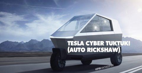Tesla Cyber Rickshaw Featured