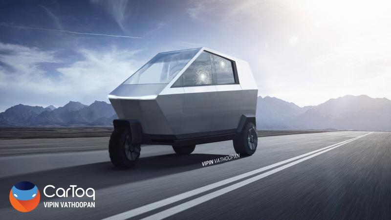 Tesla Cyber Tuktuk Wide