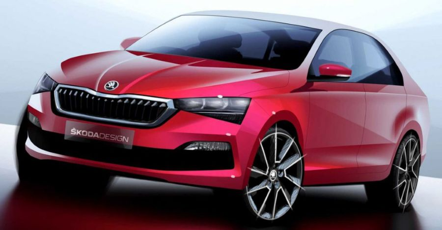 Next-generation Skoda Rapid teased: Gorgeous looker in the making