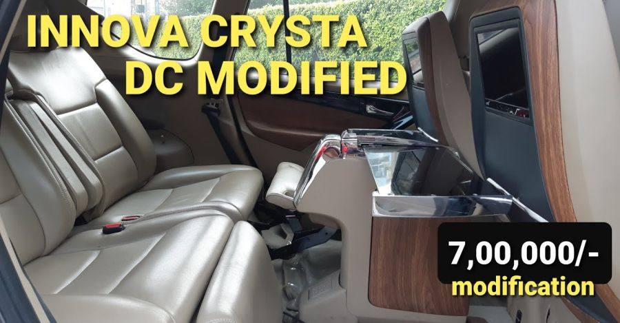DC Modified used Toyota Innova Crysta for sale: 7 lakh worth customization [Video]