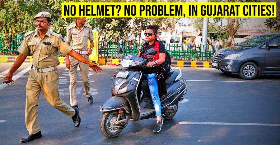 Transport Minister of Gujarat: Helmets now optional on city roads