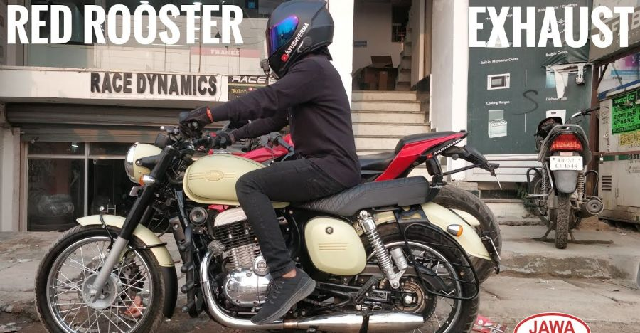 Jawa 42 Red Rooster Exhaust Featured