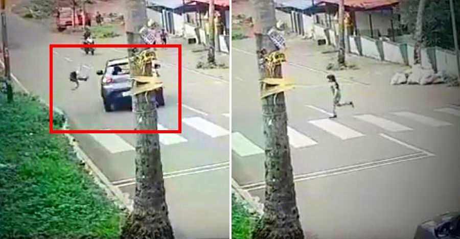 Speeding car hits kid without slowing down for Zebra crossing [Video]