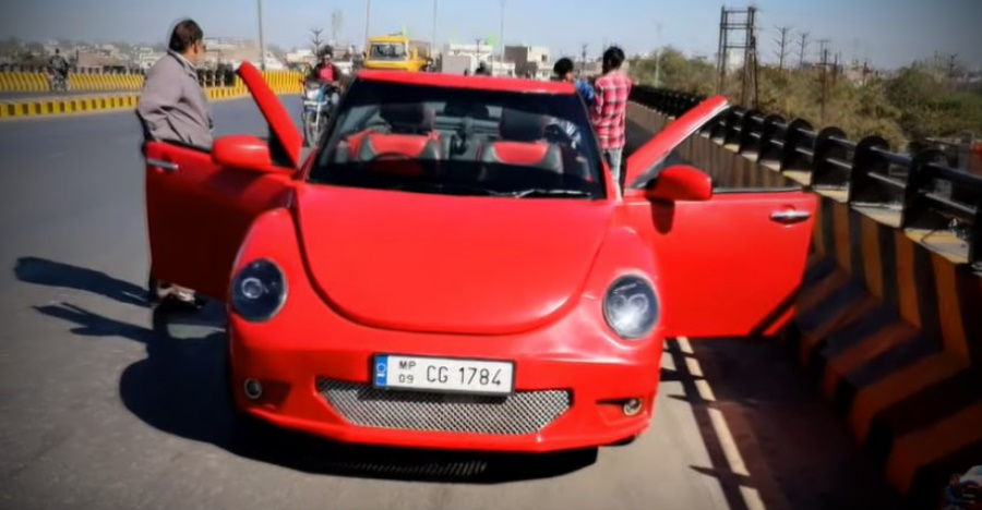 This Volkswagen Beetle is actually a Maruti Swift