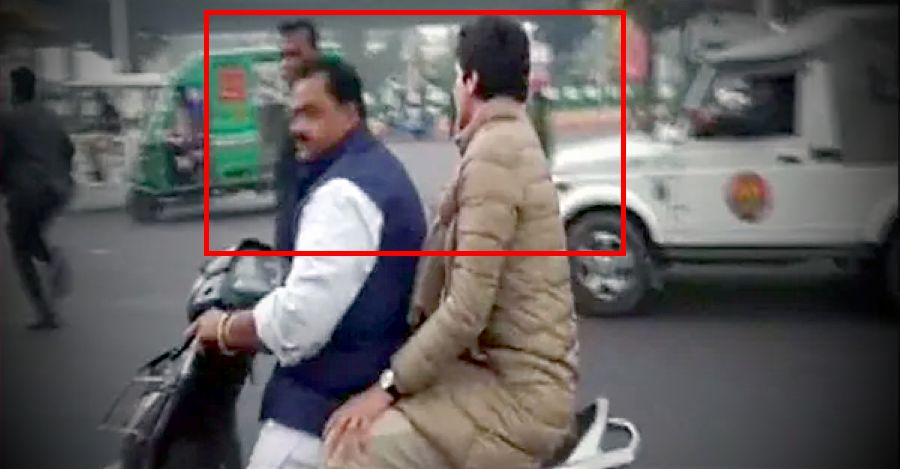 Priyanka Gandhi & Congress worker ride scooter without helmet: FINED Rs. 6,100