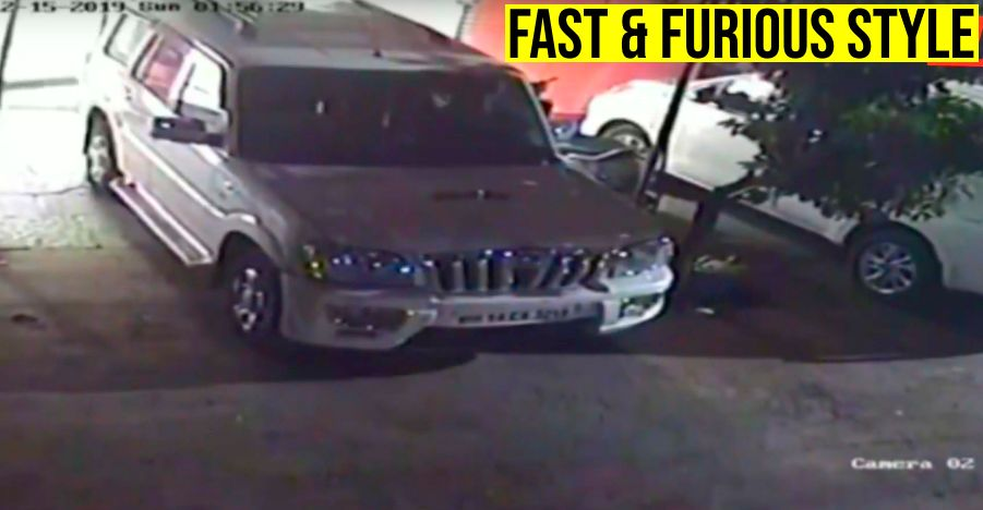 Thieves use Mahindra Scorpio to pull out an ATM in Pune [Video]