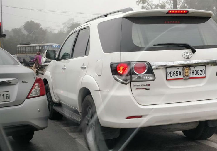 Police IG's Toyota Fortuner fined DOUBLE for zebra crossing violation!