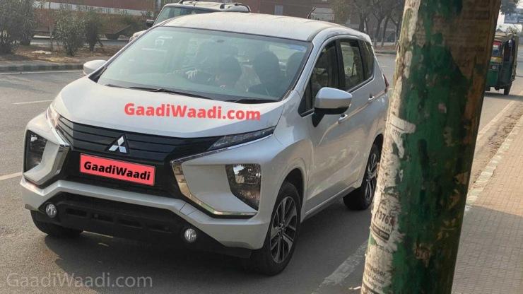 Maruti Ertiga rival Mitsubishi Xpander MPV spotted Testing in India