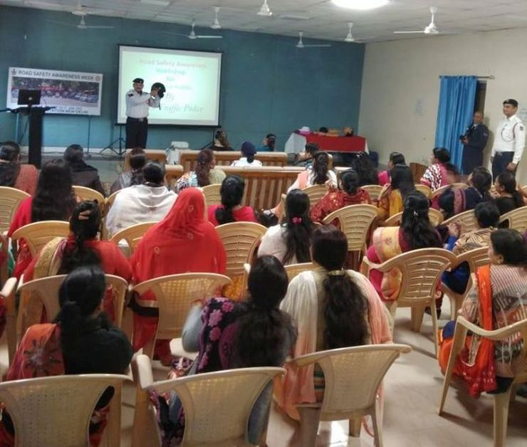 Delhi police conducts Road Safety Awareness Workshops across the city