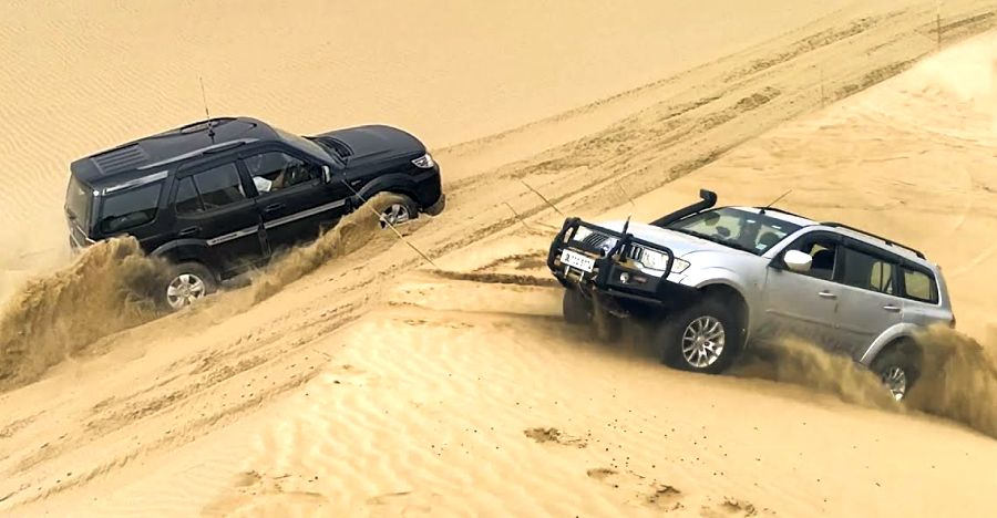 Watch the Toyota Fortuner, Ford Endeavour, Mahindra Thar, Isuzu V-Cross go dune bashing in Rajasthan [Video]