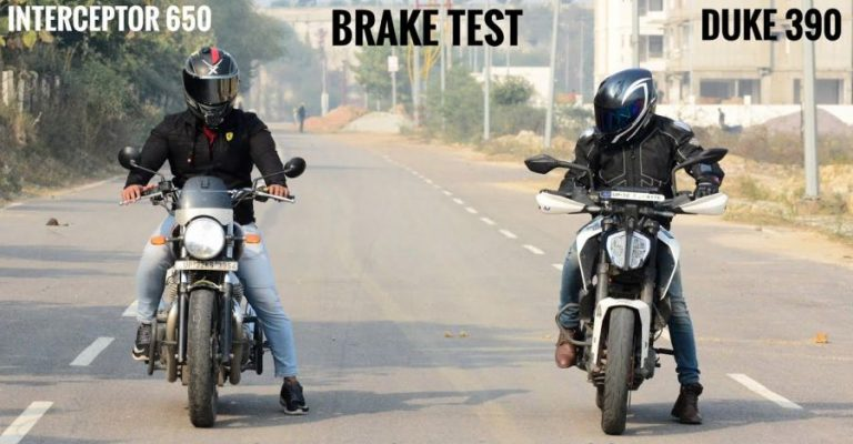 Interceptor Vs Duke Brake Test
