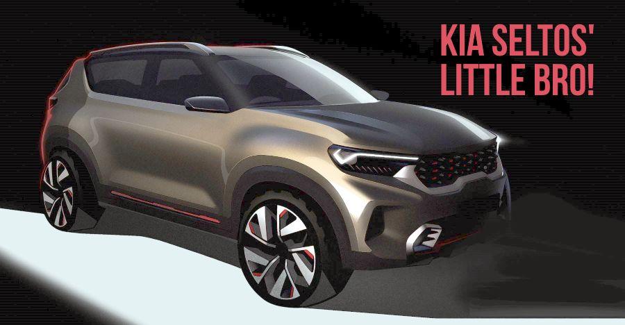 Kia Motors' sub-4 meter compact SUV teased: Hyundai Venue & Maruti Brezza rival