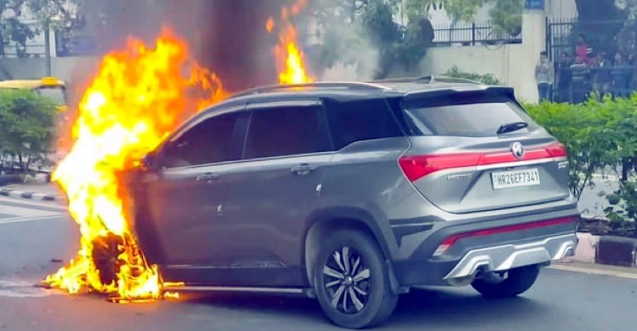 Mg Hector Fire Featured