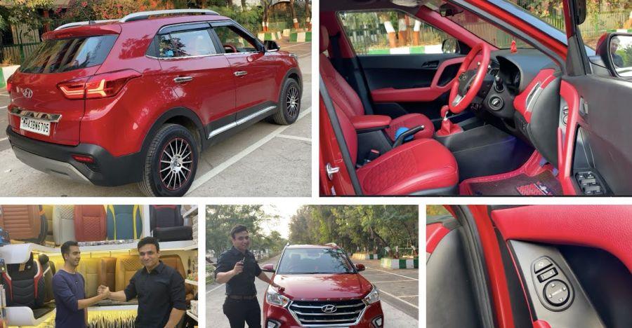 Hyundai Creta with Tesla-style infotainment system & Audi matrix turn indicators [Video]