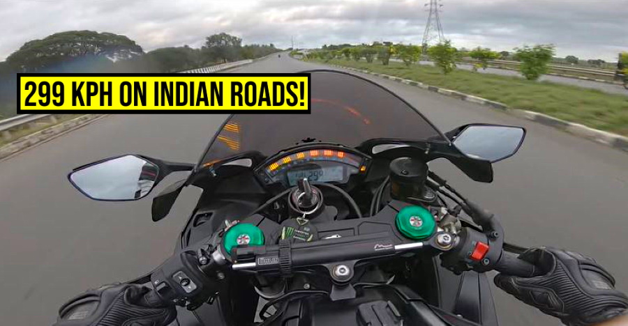 Kawasaki Ninja doing 299 Kph on Indian roads is MADNESS: What can go wrong [Video]