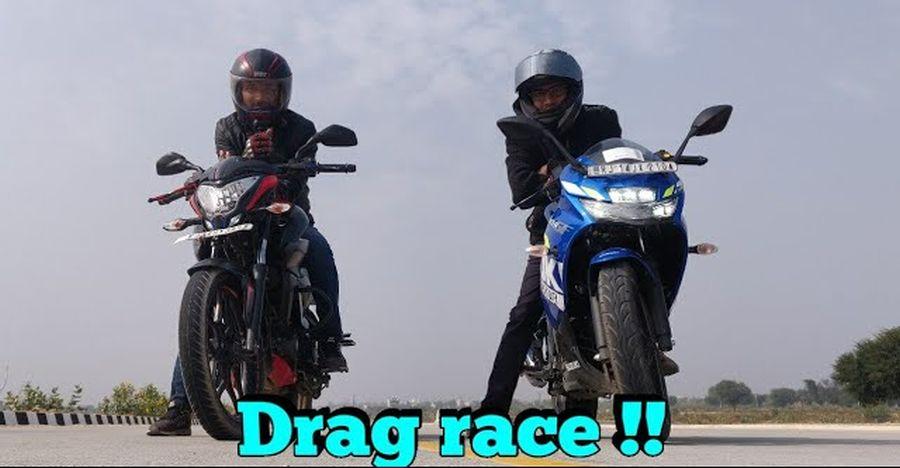 Bajaj Pulsar NS 160 vs Suzuki Gixxer in a drag race [Video]