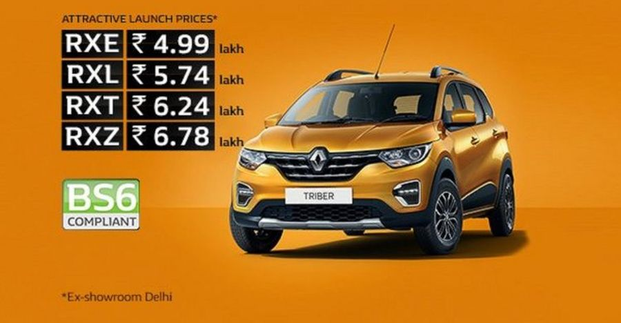 Renault Triber goes BS6: Launched at a price of Rs. 4.99 lakh
